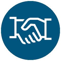 Icon: Gegenseitiges Vertrauen
